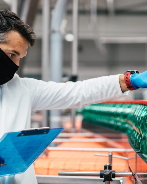Male Inspecting in Food Quality Control Department